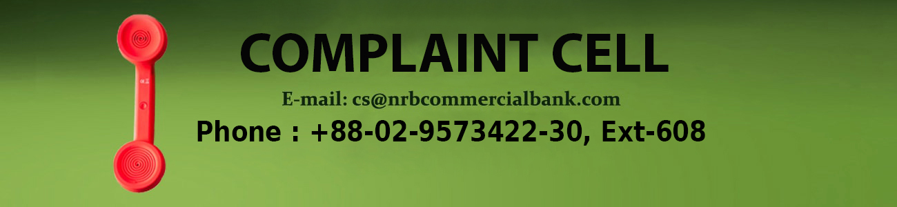 NRB Commercial Bank Complaints cell